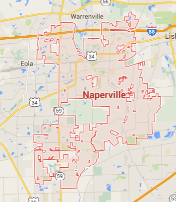 map-of-naperville-service-area